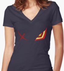 Kill la Kill Senketsu Women's Fitted V-Neck T-Shirt