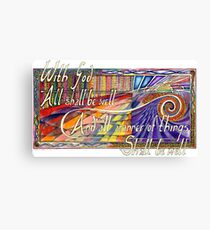 With God Canvas Print