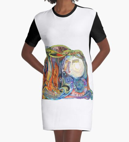 Woven Cords Graphic T-Shirt Dress