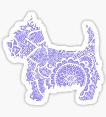 Westie zentangle purlple 2 Sticker
