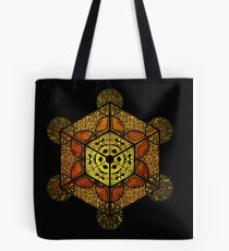 Sacred Geometry - TerraCube Single Tote Bag