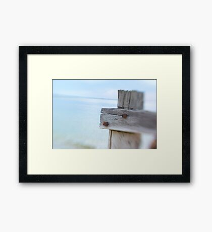 Sea Posts 4 Framed Print