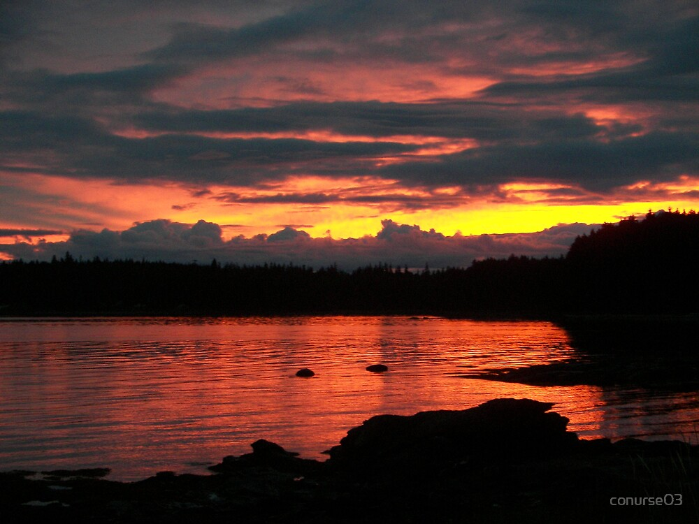Sunset in Southeast Alaska by conurse03