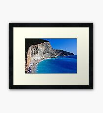 Beach in Greece 10 Framed Print