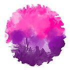 Pink and Purple Digital Art background  by KarimStudio