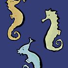 swinging seahorses by greendeer