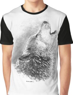 Lupin's Lament - Howling Wolf Graphic T-Shirt