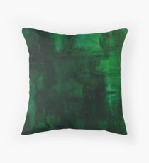 Malachite Dreams Throw Pillow