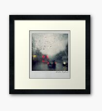 Rain Polaroïd Framed Print