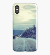 The Lonely Snowy Drive iPhone Case/Skin