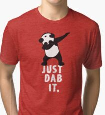 DAB PANDA dab just dab it dabber dance football touch down red Tri-blend T-Shirt