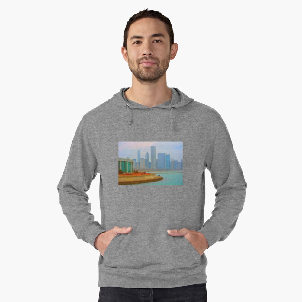 A Walk on the Lakefront Lightweight Hoodie Front