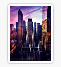 St. Patrick's Cathedral & Rockefeller Center Sticker