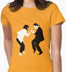 Pulp Fiction // Jack Rabbit Slim's Restaurant Dance Scene // Unique Minimalist Design Women's Fitted T-Shirt