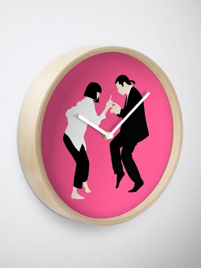 Alternative Ansicht von Pulp Fiction // Jack Rabbit Slim Restaurant Tanz Szene // einzigartige minimalistische Design Uhr