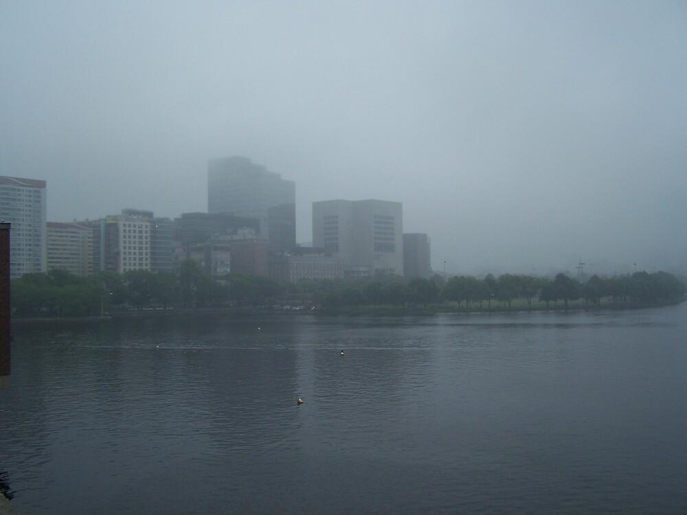 Boston in fog by missliz