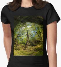 Ness Glen, Mystical Irish Wood Women's Fitted T-Shirt