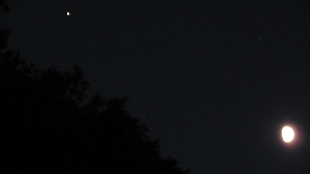The Moon and Jupiter by Nina Andrews
