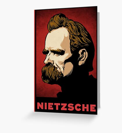 Nietzsche Print Greeting Card
