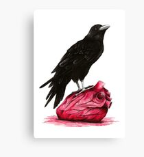 quote the raven: nevermore Canvas Print
