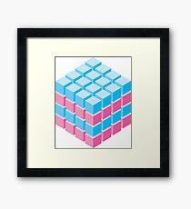 isometric cube Framed Print