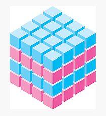 isometric cube Photographic Print