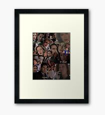X-Files / Mulder and Scully Collage Framed Print