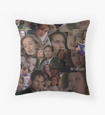 X-Files / Mulder and Scully Collage Throw Pillow