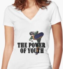 Rock Lee - Power of Youth Women's Fitted V-Neck T-Shirt