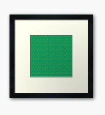 Animal Crossing Grass Pattern Framed Print