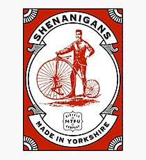 Cycling - Mountain Biking Shenanigans Photographic Print
