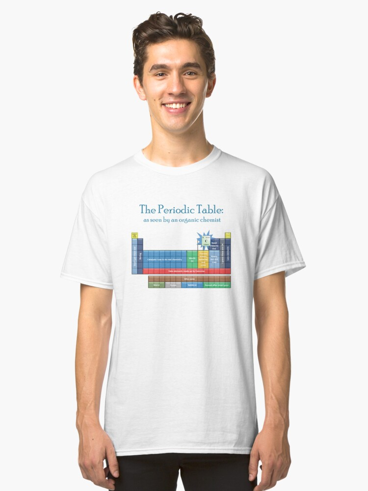The periodic table as seen by an organic chemist classic t shirt the periodic table as seen by an organic chemist classic t shirt front urtaz Choice Image