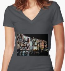 Roman history, ancient Rome, architecture, walls, structures Women's Fitted V-Neck T-Shirt