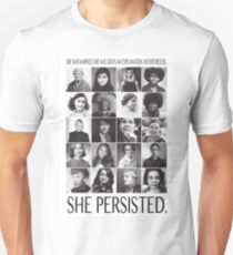Nevertheless, She Persisted Slim Fit T-Shirt