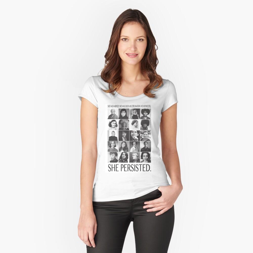 Sin embargo, ella persistió Camiseta entallada de cuello ancho