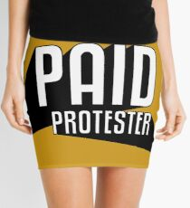 Paid Protester Print Mini Skirt