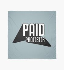 Paid Protester Print Scarf