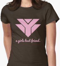 Diamonds are a girls best friend - pink Womens Fitted T-Shirt