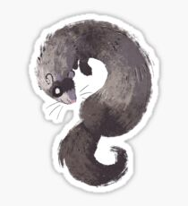 Squiggle Ferret Sticker