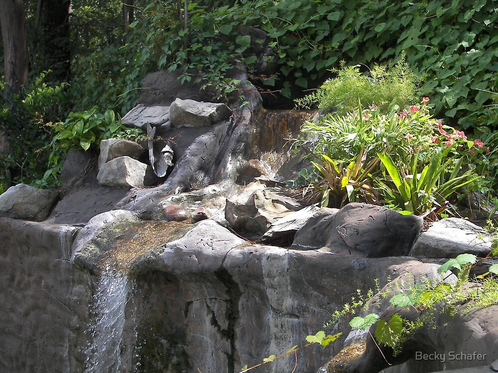 Waterfall...  by Becky Schafer