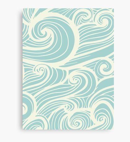 Wave Swirl Pattern  Canvas Print