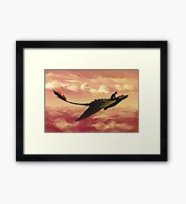 Flying - How to Train Your Dragon Framed Print