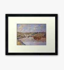 Claude Monet - End Of The Afternoon, Vetheuil Framed Print