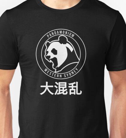 PANDAMONIUM EMBLEM white Unisex T-Shirt