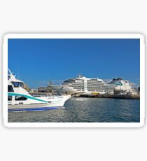 Magnetic Island Barge and Seabourn Encore Cruise Ship Sticker