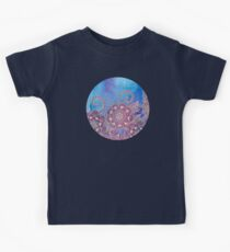 Magnolia & Magenta Floral on Watercolor Kids Tee