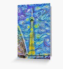 Van Gogh Tower Greeting Card