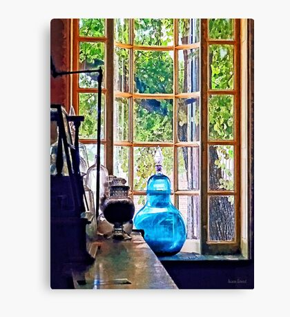 Blue Apothecary Bottle Canvas Print