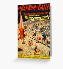 Antique American Circus Poster - The Grand Water Circus (1895) Greeting Card