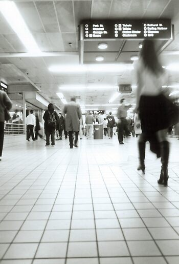 Central Station Blur 1 by Oliver Lawrance